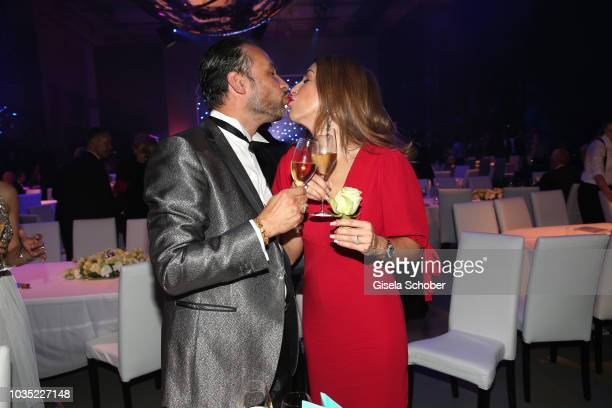 Judith Williams celebrates her birthday with her husband AlexanderKlaus Stecher during the traditional Buehnendinner 2018 at Bayerische Staatsoper on...
