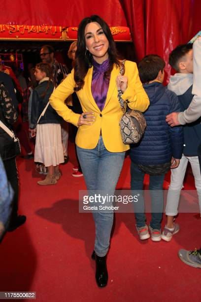 """Judith Williams during the premiere of Circus Roncalli's """"Storyteller - Gestern - Heute - Morgen"""" on October 12, 2019 in Munich, Germany."""