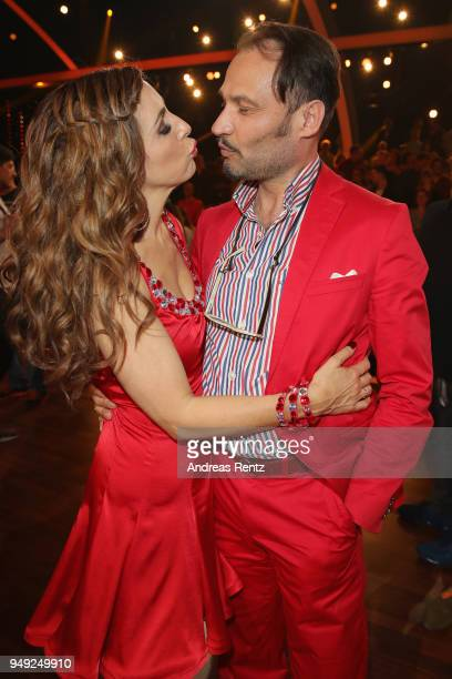 Judith Williams kisses her husband AlexanderKlaus Stecher during the 5th show of the 11th season of the television competition 'Let's Dance' on April...