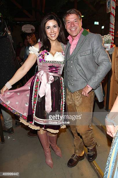 Judith Williams Patrick Lindner attend the 'GoldStar TV Wiesn' during Oktoberfest at Weinzelt Theresienwiese on September 23 2014 in Munich Germany