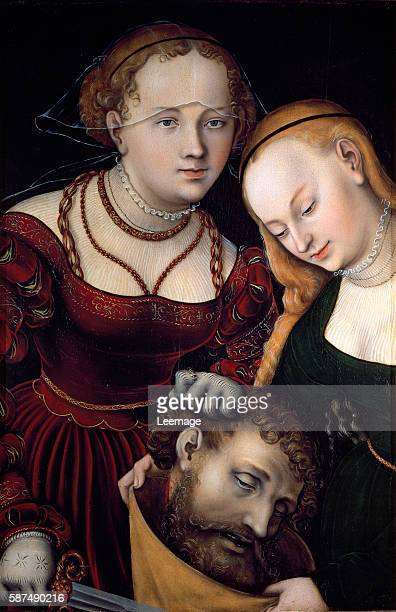 Judith with the head of Holofernes and a servant by Lucas Cranach the Elder Oil on wood 77 x 525 cm Kunsthistorisches Museum Gemaeldegalerie Vienna...