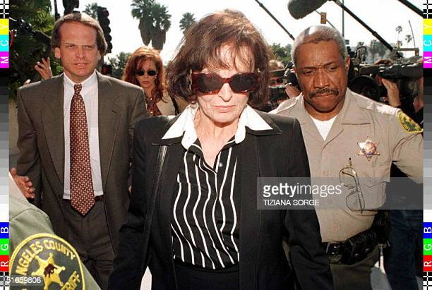 Juditha Brown , the mother of murder victim Nicole Brown Simpson, leaves court in Santa Monica, California, with her attorney John Kelly during the...