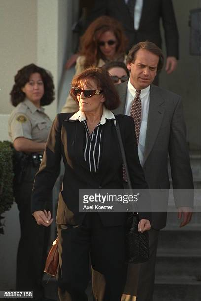 Juditha Brown, the mother of Nicole Simpson, with her lawyer John Kelly.