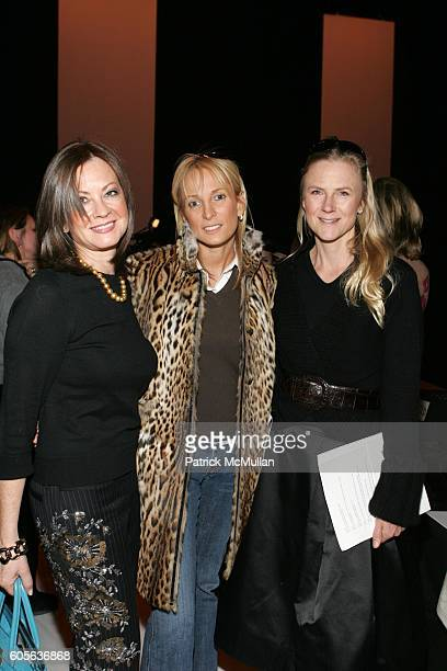 Judithy Giuliani Pamela Gross Finkelstein and Gigi Mortimer attend Vera Wang Fall 2006 Fashion Show at The Tent at Bryant Park on February 9 2006 in...