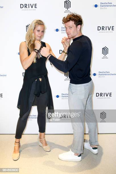 Judo athlete Julia Dorny and German actor Artjom Gilz during the 8th edition of the Berlin concert series 'Neue Meister' at Volkswagen Group Forum...