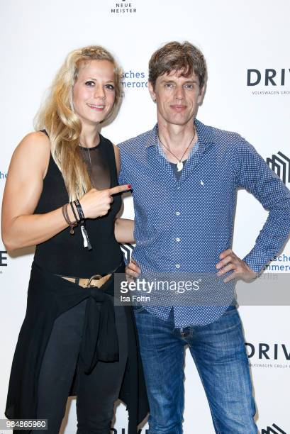 Judo athletet Julia Dorny and Musician Ralf Schmid during the 8th edition of the Berlin concert series 'Neue Meister' at Volkswagen Group Forum DRIVE...