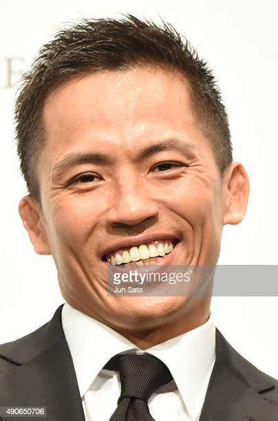 Judo competitor Tadahiro Nomura attends the 'John Wick' Japan Premiere at Differ Ariake Arena on September 30 2015 in Tokyo Japan