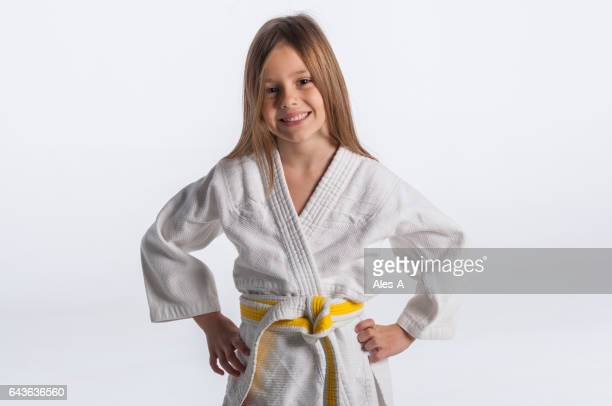 judo girl - judo stock photos and pictures