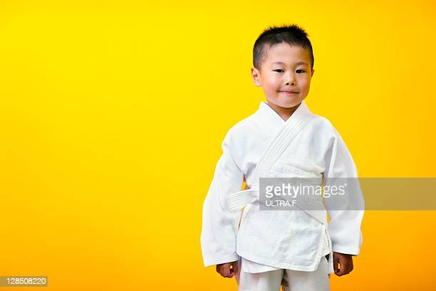 Judo player of a little boy