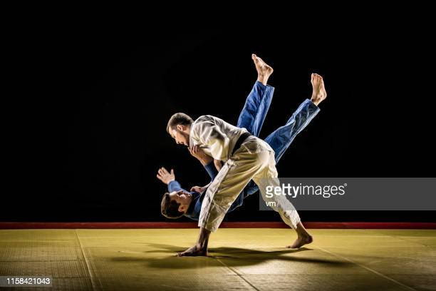 judo throw - judo stock photos and pictures