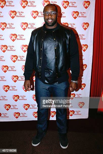 Judo world champion and Olympic judo champion Teddy Riner attends the Samba Premiere to Benefit 'CekeDuBonheur' which celebrates its 10th...