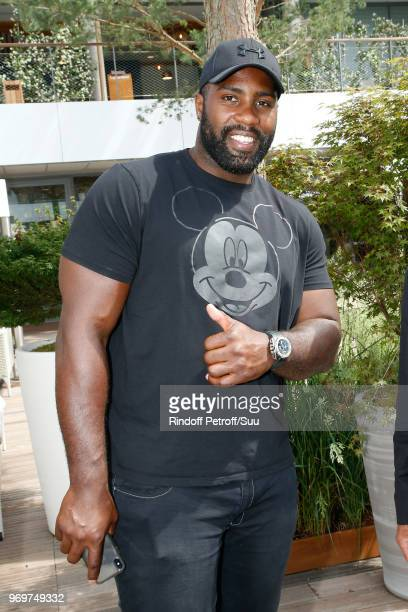 Judoka Teddy Riner attends the 2018 French Open - Day Thirteen at Roland Garros on June 8, 2018 in Paris, France.