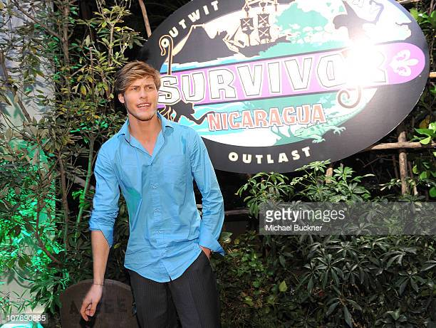 Judson Birza the winner of Survivor Nicaragua arrives at the CBS Survivor Nicaragua Finale and Reunion Party at CBS Television City on December 19...