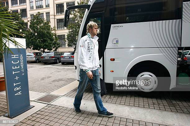 Judson Wallace #18 of Benetton Basket Arrival at the Palasport on March 31 2009 in Turin Italy