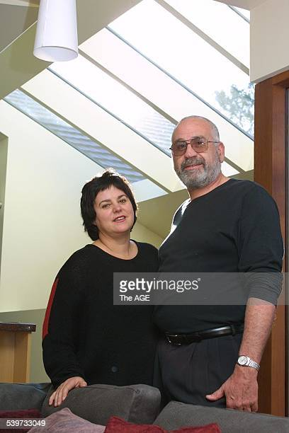 Judy and Andreas Sederof at Peter Campbell's solar house in Surry Hills 16 August 2002 The AGE Picture by EDDIE JIM