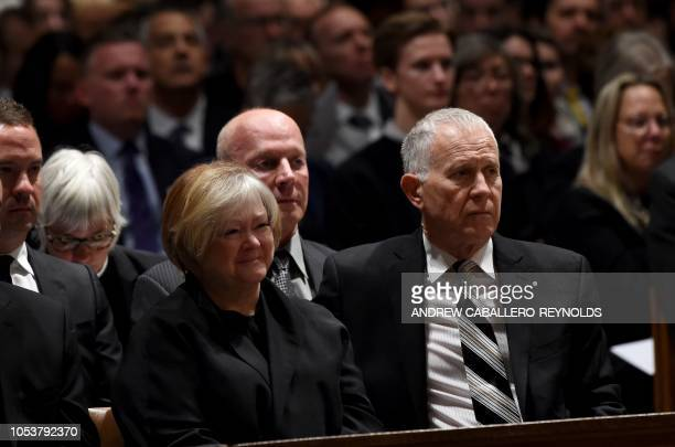 Judy and Dennis Shepard attend the interment ceremony for their son Matthew Shepard at the Washington National Cathedral on October 26 in Washington...