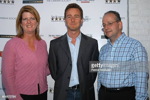 Judy Barry Edward Norton and Gordon Crovitz attend THE CINEMA SOCIETY HAMPTONS FILM FESTIVAL WALL STREET JOURNAL WEEKEND EDITION host the premiere of...