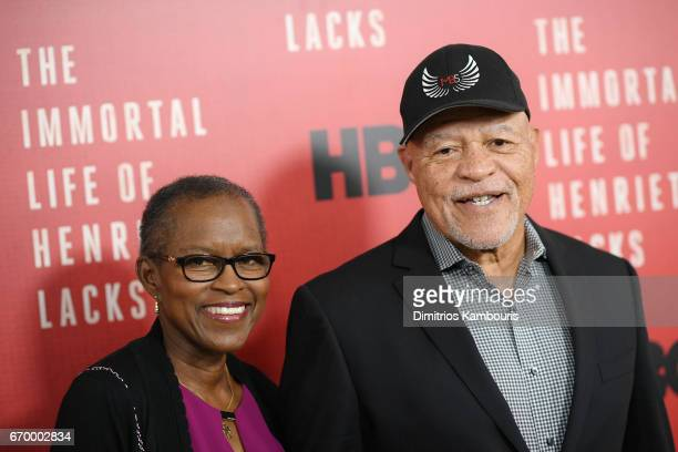 Judy Beasley and actor John Beasley attend The Immortal Life of Henrietta Lacks premiere at SVA Theater on April 18 2017 in New York City