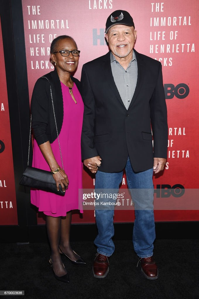 Judy Beasley and actor John Beasley attend 'The Immortal Life of Henrietta Lacks' premiere at SVA Theater on April 18, 2017 in New York City.