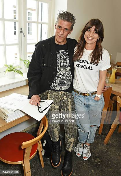 Judy Blame and Kasia Maciejowska attend as Judy Blame signs copies of The House Of Beauty And Culture by Kasia Maciejowska edited by Gregor Muir at...