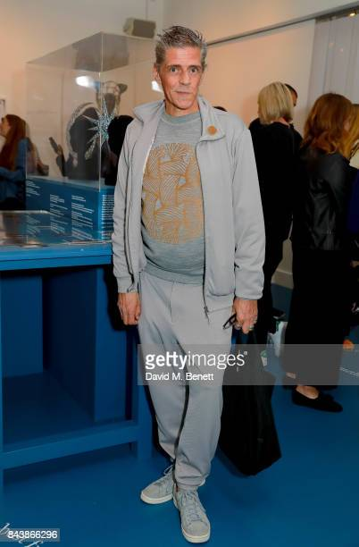 Judy Blame attends a private view of 'Fashion Together' at the Fashion Space Gallery on September 7 2017 in London England