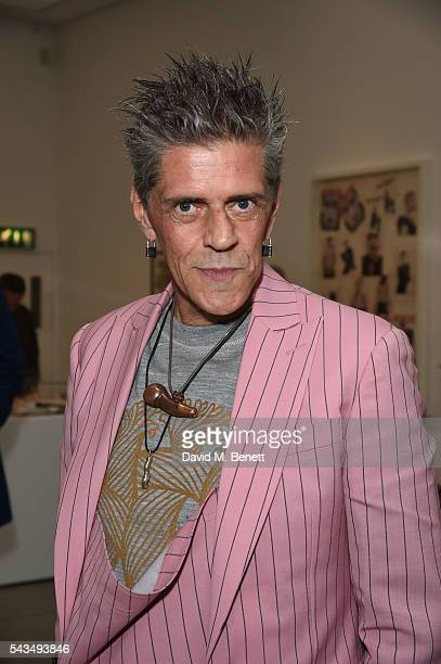 Judy Blame attends a VIP private view of Judy Blame Never Again and Artistic Difference at the ICA on June 28 2016 in London England