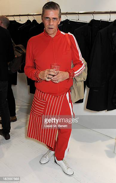Judy Blame attends the launch of the new Yohji Yamamoto parfums at the Yohji Yamamoto Conduit Street store on October 1 2013 in London England