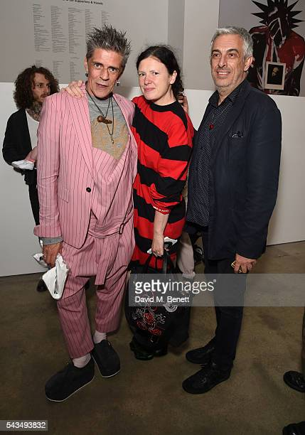 Judy Blame Katie Grand and Rifat Ozbek attends a VIP private view of Judy Blame Never Again and Artistic Difference at the ICA on June 28 2016 in...