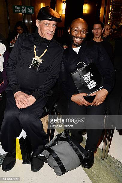 Judy Blame sits in the front row at the Pam Hogg show at Fashion Scout during London Fashion Week Autumn/Winter 2016/17 at Freemasons' Hall on...