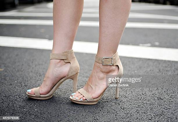 Judy C Yang is seen around the East Village wearing Calvin Klein shoes on July 31 2014 in New York City