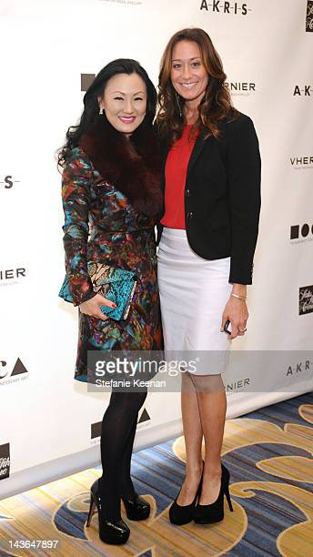 Judy Chang and Monique Michaels attend MOCA's Women in the Arts at the Beverly Wilshire Four Seasons Hotel on May 1 2012 in Beverly Hills California