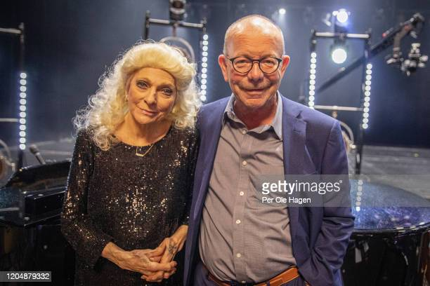 Judy Collins and Jonas Fjeld on stage at The National Opera House in Oslo Norway