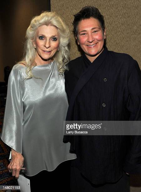 Judy Collins and kd lang attend the 41st Annual Songwriters Hall of Fame Ceremony at The New York Marriott Marquis on June 17 2010 in New York City