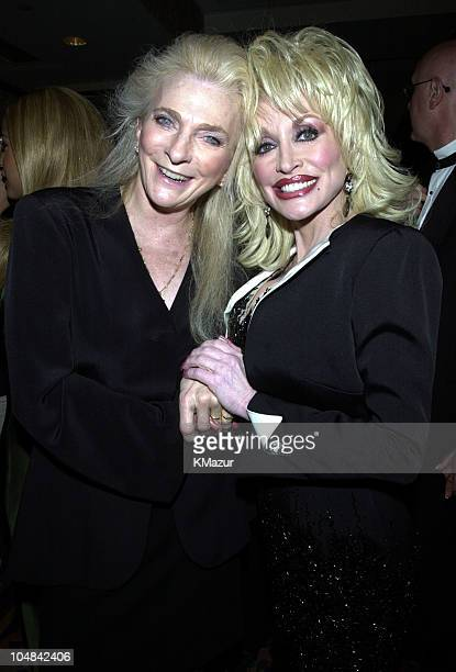 Judy Collins Dolly Parton during The Songwriters Hall of Fame 32nd Annual Awards Induction at The Sheraton Hotel in New York City New York United...