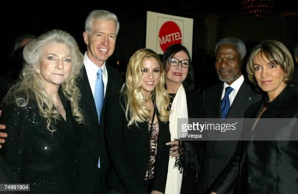 Judy Collins Gray Davis Shakira Nana Mouskouri Kofi Annan and Maria Emma Mejia