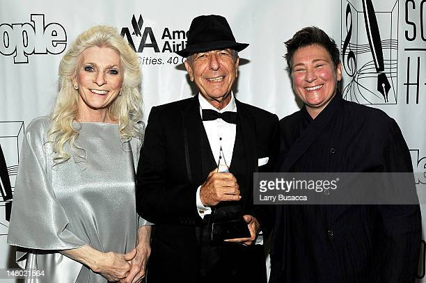Judy Collins Leonard Cohen and kd lang attend the 41st Annual Songwriters Hall of Fame Ceremony at The New York Marriott Marquis on June 17 2010 in...