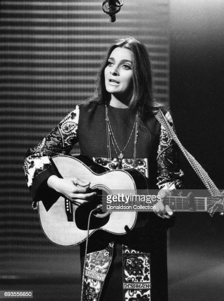 Judy Collins performs as a part of Ace Trucking Company on This Is Tom Jones TV show in circa 1970 in Los Angeles California