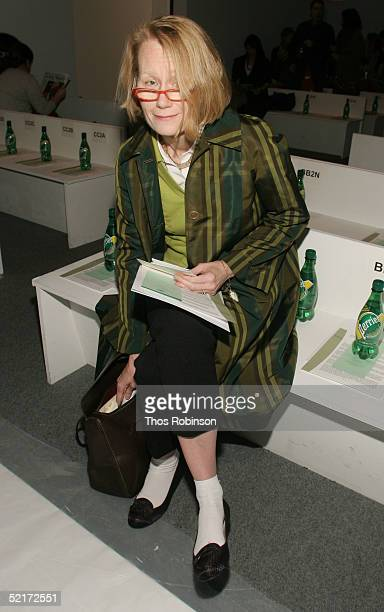 Judy Collinson general merchandise manager at Barneys attend the Jeffrey Chow Fall 2005 fashion show during the Olympus Fashion Week at Bryant Park...