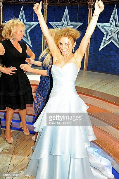Judy Craymer and Geri Halliwell pose backstage at the Gala Press Night performance of 'Viva Forever' at the Piccadilly Theatre on December 11, 2012...