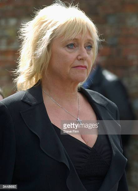 Judy Finnigan attends the Funeral of Caron Keating following her death from breast cancer last week at Hever Church in Edenbridge on April 20 2004 in...