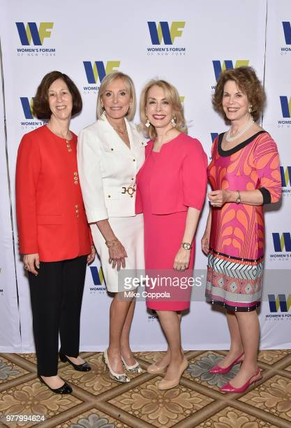 Judy Fryer Janice Reals Ellig Carolyn Carter and Dede Thompson Bartlett attend the 8th Annual Elly Awards hosted by the Women's Forum of New York at...