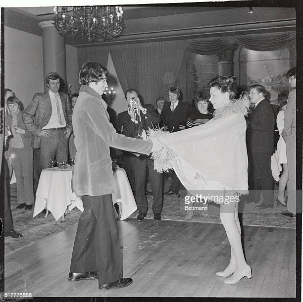 Judy Garland and her fifth husband New York businessman Mickey Deans danced at reception following their wedding at Chelsea Registry Office in London...