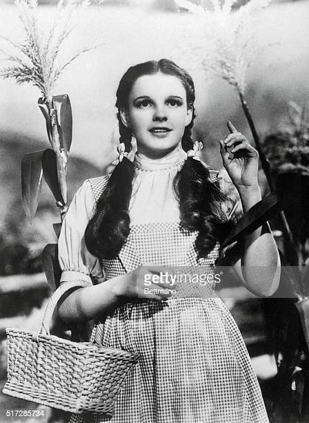 Judy Garland in a scene from the 1939 movie The Wizard of Oz directed by Victor Fleming
