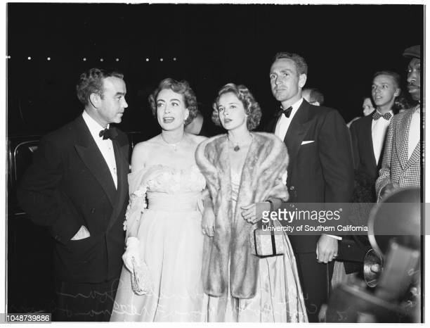 Judy Garland opening at Philharmonic Auditorium 21 April 1952 Mr and Mrs Charles SkourasMr and Mrs Mike RosenbergLeo GennEleanor ParkerJean...
