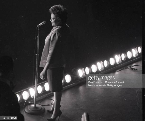 Judy Garland performs at the Civic Auditorium September 13 1961