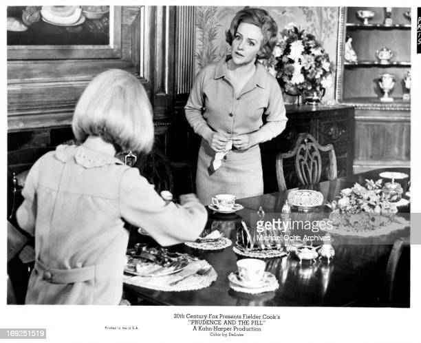 Judy Geeson talks with Joyce Redman in a scene from the film 'Prudence And The Pill' 1968