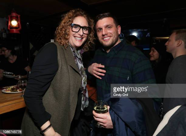 Judy Gold and Chris Distefano attend the opening night after party for Colin Quinn Red State Blue State on January 22 2019 in New York City