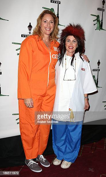 Judy Gold and Elysa Halpern attend Bette Midler's New York Restoration Project's Annual Hulaween in the Big Easy at at The Waldorf=Astoria on October...