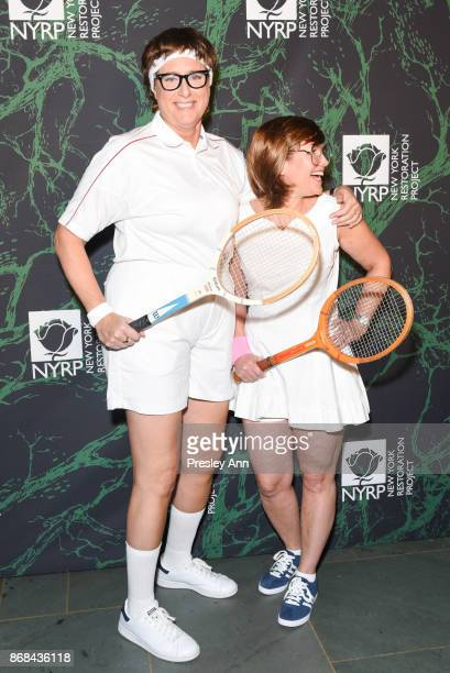 Judy Gold and Elysa Halpern attends Bette Midler's 2017 Hulaween Event Benefiting The New York Restoration Project at Cathedral of St John the Divine...
