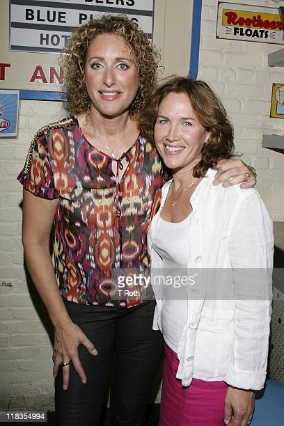 Judy Gold and Elysa Halpern attends The Judy Show My Life As A Sitcom OffBroadway opening night after party at Big Daddy's on July 6 2011 in New York...